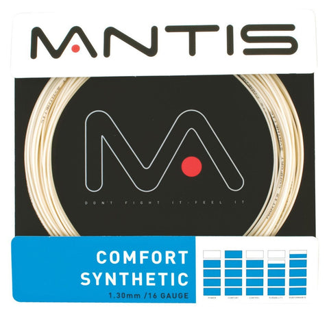 Mantis Comfort Synthetic 16 / 1.30mm Tennis String Set