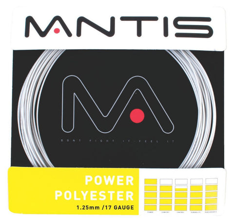 Mantis Power Polyester 17 / 1.25mm Tennis String Set