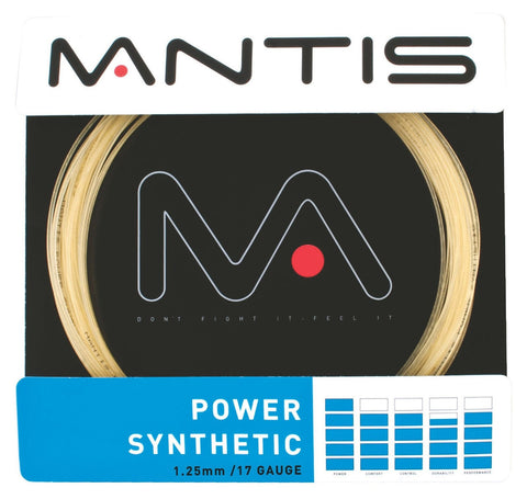 Mantis Power Synthetic 16 / 1.30mm Tennis String Set