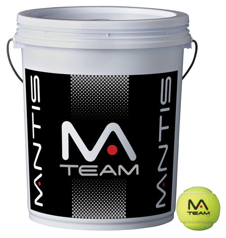 Mantis Team Tennis Balls 72 Ball Bucket