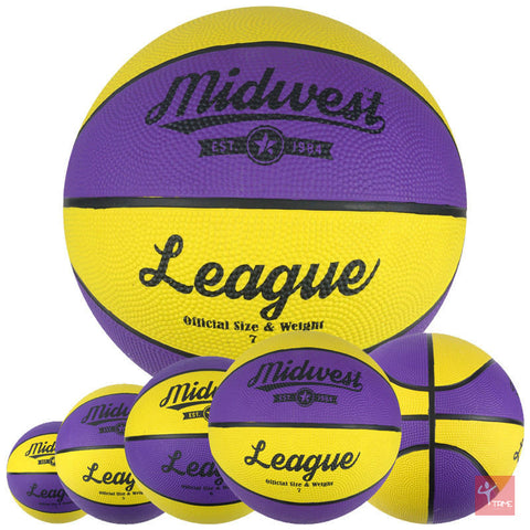 Midwest League Basketball - Purple/Yellow