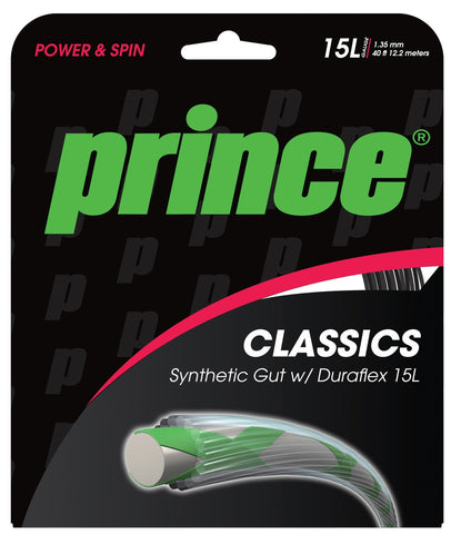 Prince Synthetic Gut Duraflex 16 / 1.30mm Tennis String Set
