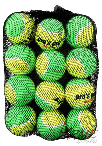 Pro's Pro Stage 1 Green Junior Tennis Balls