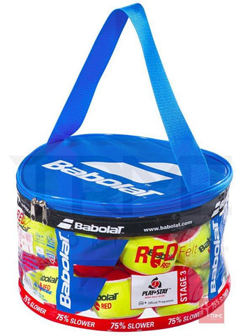 Babolat Red Felt 24 Tennis Ball Bag (2 Dozen) - Stage 3