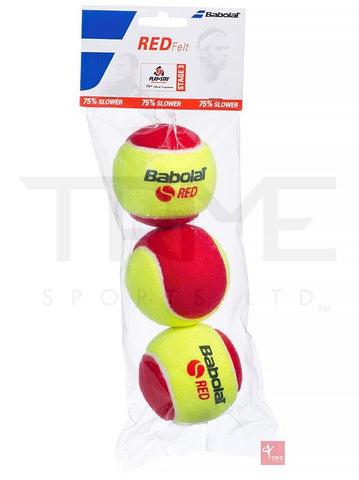Babolat Red Felt Tennis Balls (3 Pack)