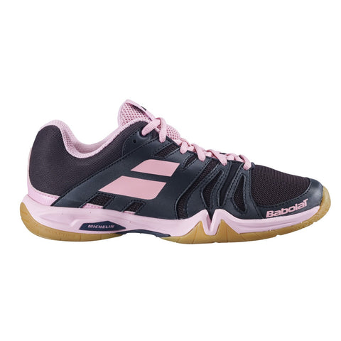 Babolat Shadow Team Ladies Badminton Shoes - Black/Peony (2020)