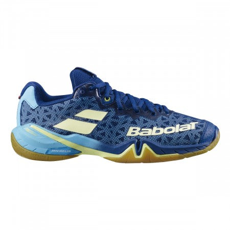 Babolat Shadow Tour Womens Badminton Shoes - Estate Blue/Canary Yellow (2020)