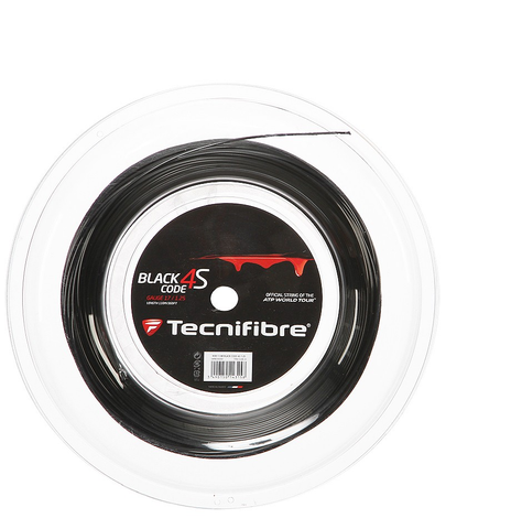 Tecnifibre Black Code 4S 17 / 1.25mm Tennis String 200m Reel - Black