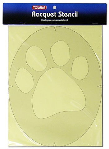 Tourna Paw Tennis Racket String Stencil