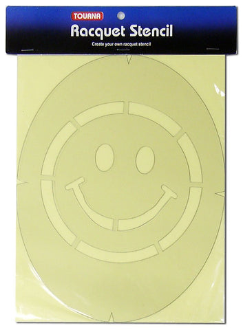 Tourna Smiley Face Tennis Racket String Stencil