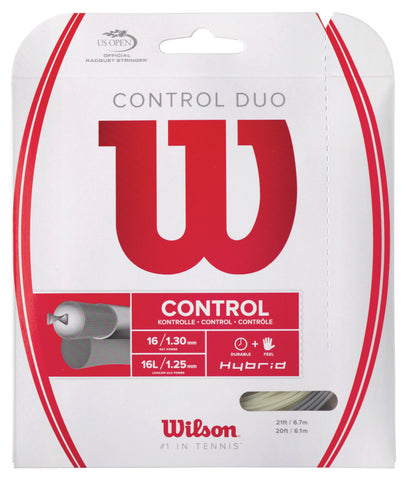 Wilson Control Duo Hybrid Tennis String Set