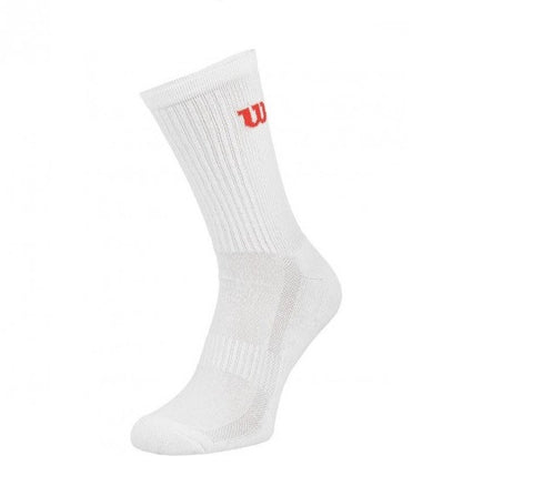 Wilson Men's Tennis Premium Crew Sock White - 3 Pack (WRW276W30)