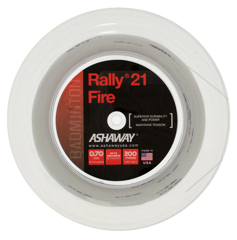 Ashaway Rally 21 Fire Badminton String 200m Reel