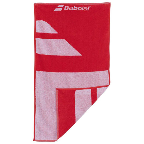 Babolat Medium Towel - White / Fiesta Red