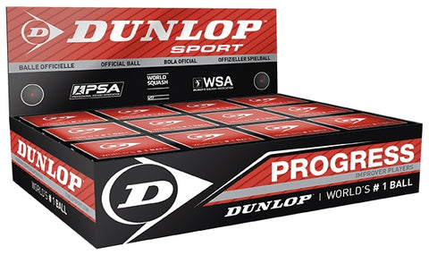Dunlop Progress Squash Balls (1 Dozen)