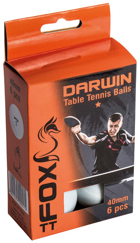 Fox Darwin 1 Star Table Tennis Balls (Pk6)