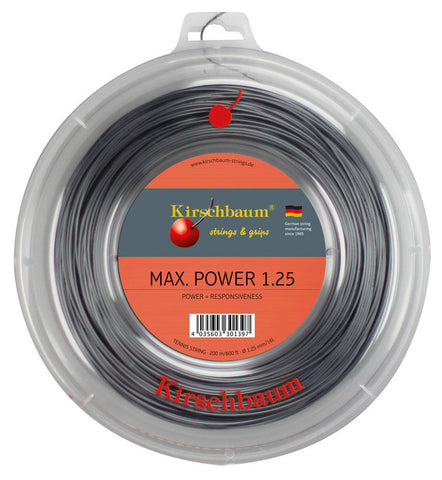 Kirschbaum Max Power Tennis String 200m Reel
