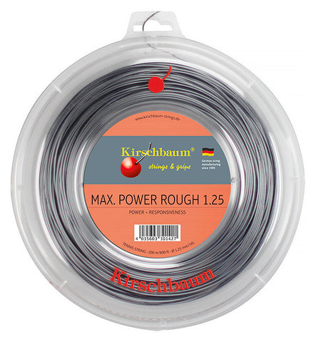 Kirschbaum Max Power Rough Tennis String 200m Reel