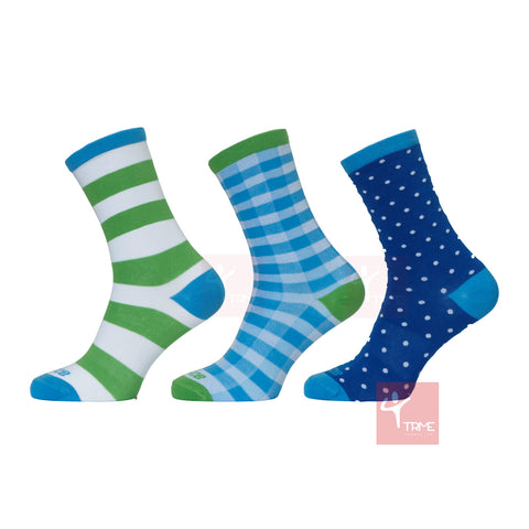 Prince Ladies Off Court Socks - Candy Crew Mixed (3 pack)