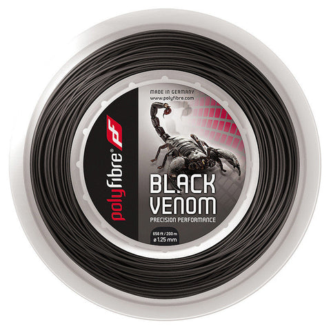 Polyfibre Black Venom Tennis String 200m Reel