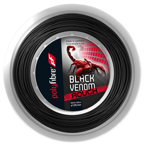 Polyfibre Black Venom Rough Tennis String 200m Reel