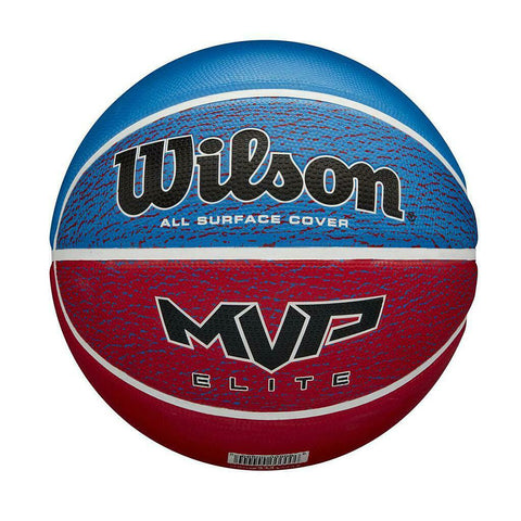 Wilson MVP Elite Basketball - Blue/Red