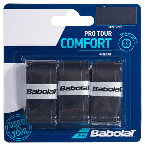 Babolat Pro Tour Overgrip (Pack of 3) - Black