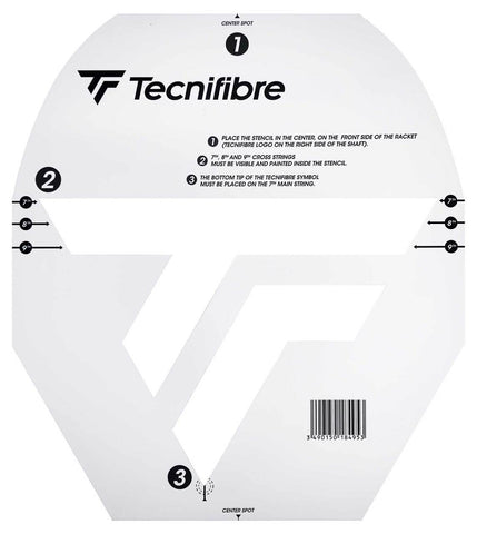 Tecnifibre Logo Stencil (Available for Tennis or Squash)