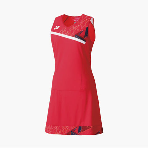 Yonex 20524EX Women's Tournament Dress - Flash Red (Donated by Badminton Player Lauren Smith)