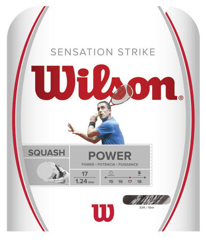 Wilson Sensation Strike 17 / 1.24mm Squash String Set