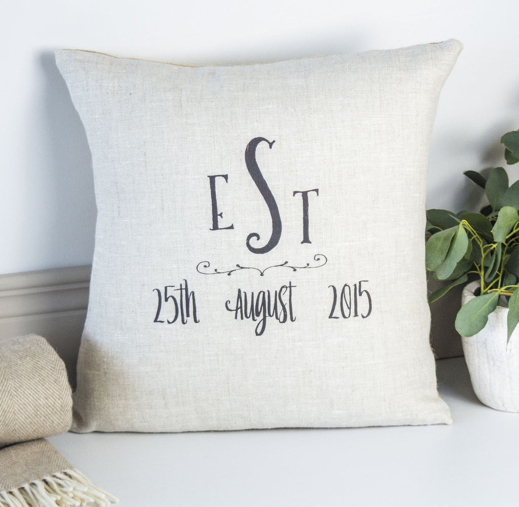 Est-Special Date Cushion Personalised Engagement Gift