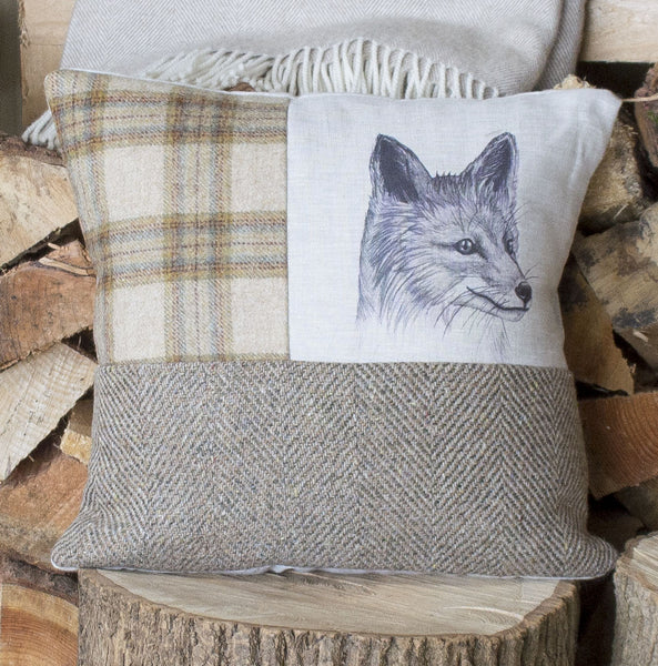 Mr Fox Tweed Mix Cushion