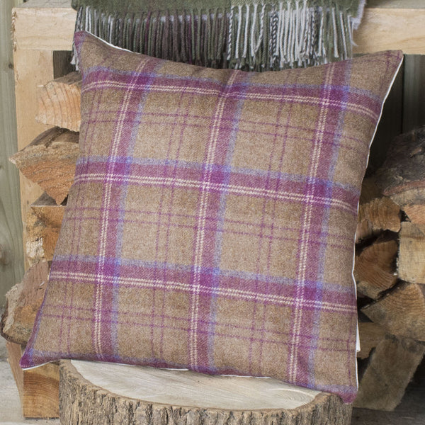 Plum Tweed Cushion