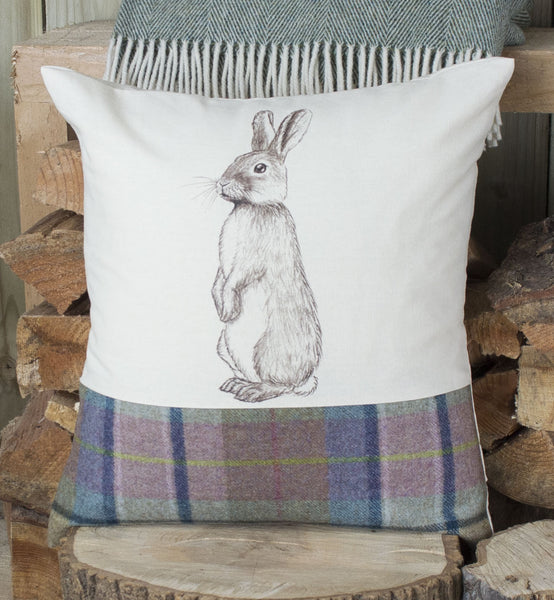Spring Tweed Bunny Rabbit Cushion