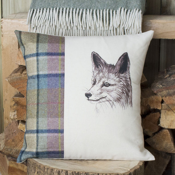 Spring Tweed Mr Fox Cushion