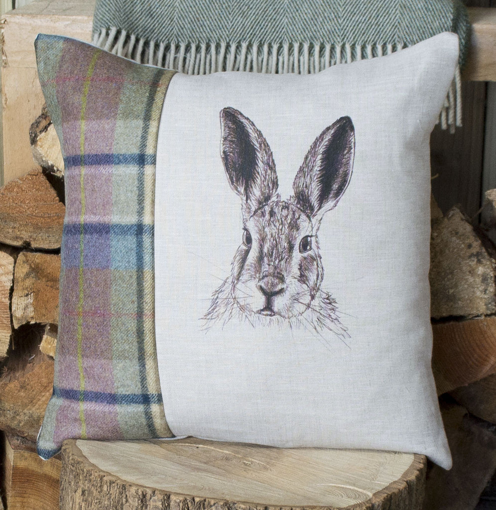 Spring Tweed Mr Hare Cushion