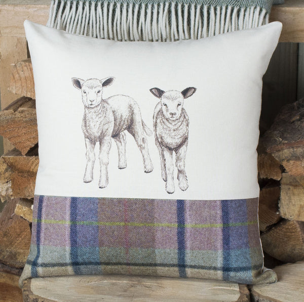 Spring Tweed Lamb Cushion
