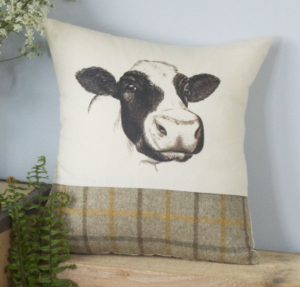 Summer Tweed Cow Cushion