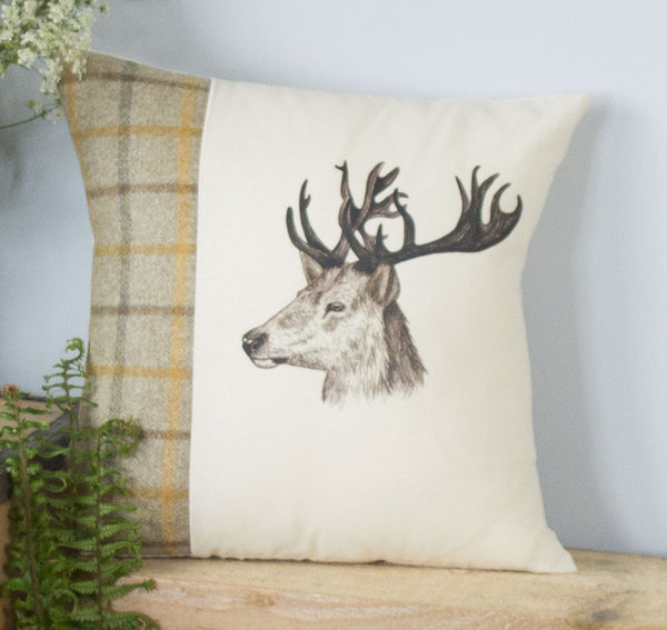 Summer Tweed Stag Cushion