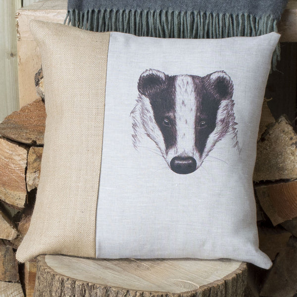 Vintage Badger Cushion