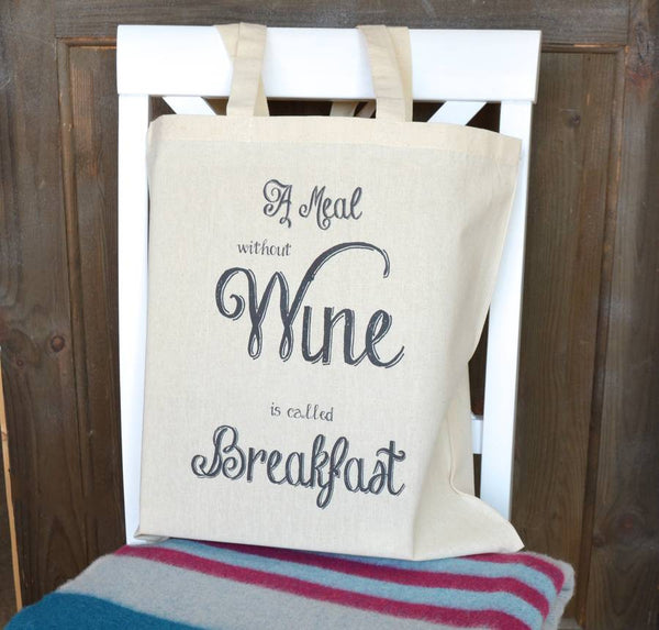 ' A Meal Without Wine ' Tote Bag