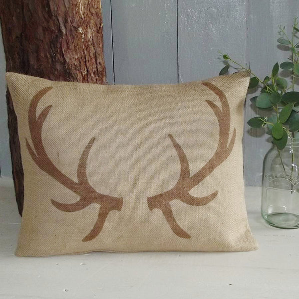 ' Chestnut Brown Antler ' Cushion