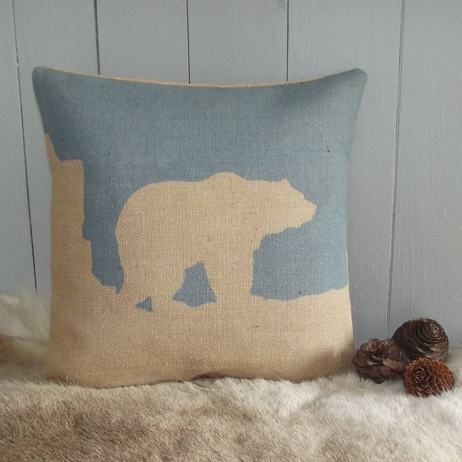 ' Arctic Polar Bear ' Cushion