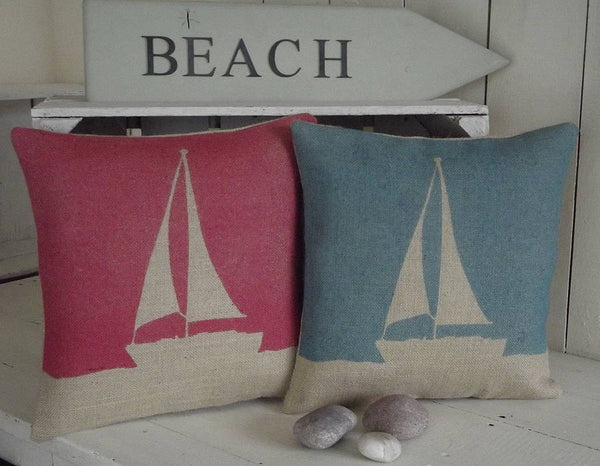 ' Boat ' Cushions (Red & Blue)