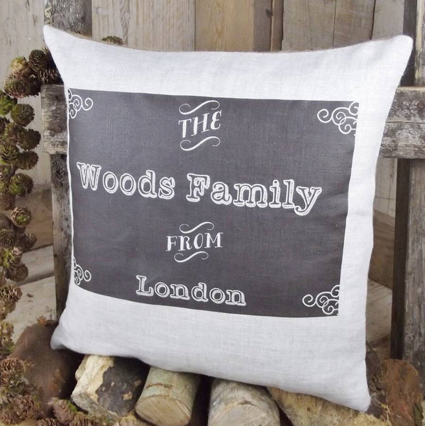 ' Chalkboard Style Family ' Cushion