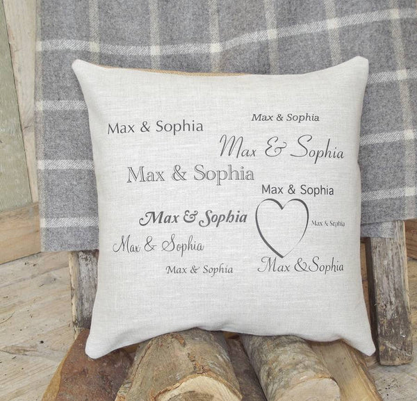 ' Couples Names ' Cushion
