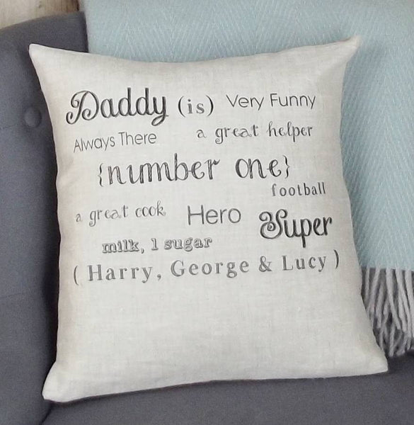' Daddy is ' Personalised Cushion