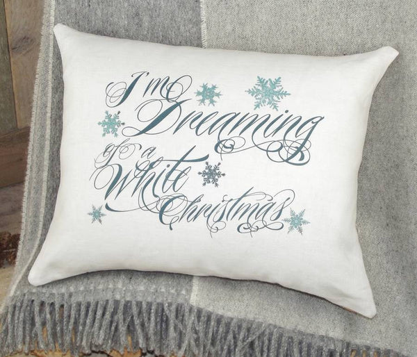 ' Dreaming Of A White Christmas ' Cushion