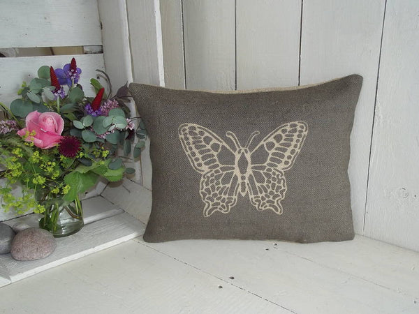 ' Butterfly ' Cushion (Charcoal)