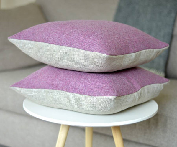 ' Heather ' Irish Tweed and Linen Cushion